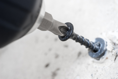 Cordless screwdriver close-up
