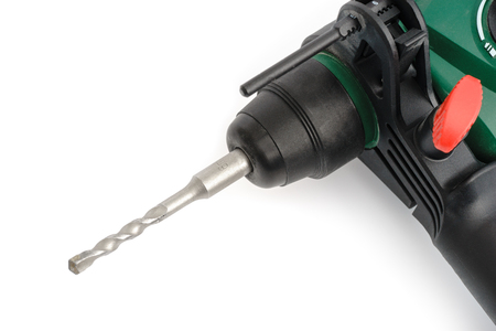 impact wrench: Hand electric hammer drill on a white background, isolated