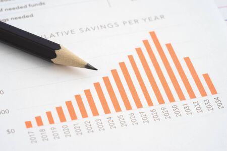 Business reports cumulative saving per year