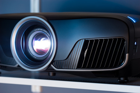 Closeup of projector for cinema and presentation