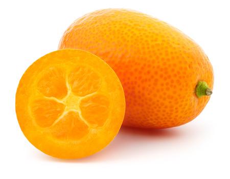 Kumquat fruit on a white background, isolated