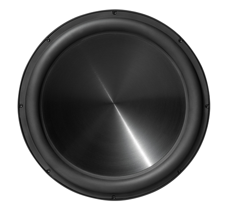 15 inch subwoofer speaker, isolated