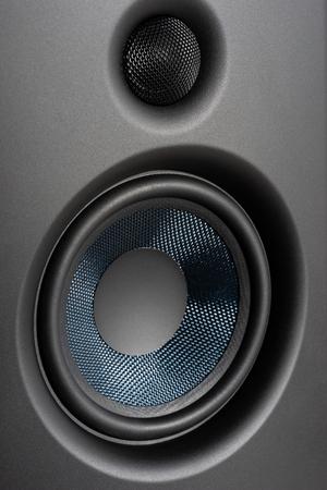 Speakers studio monitor, closeup