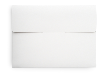 Envelope on white background isolated, close-up 版權商用圖片