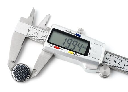 Caliper digital on white background digital Imagens