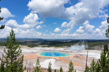 prismatic: The Grand Prismatic Spring, Yellowstone National Park, USA