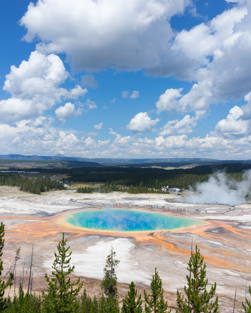 prismatic: The Grand Prismatic Spring from above, Yellowstone National Park, Wyoming, USA