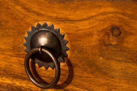custom cabinet: Drawer knob Stock Photo