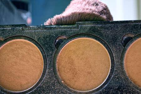 pallete: Mak up pallete Stock Photo