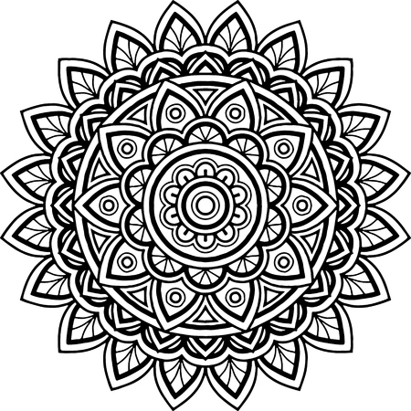 Figure mandala for coloring Vector illustration