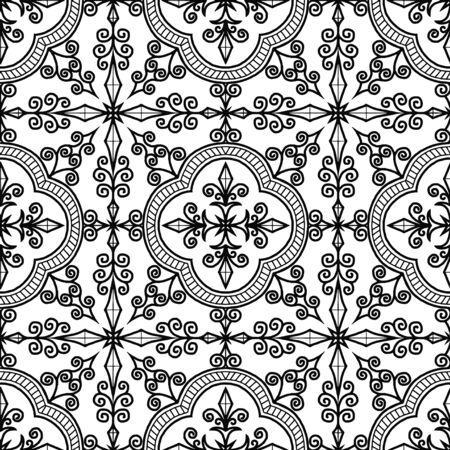Abstract patterns Cross doodles black and whit