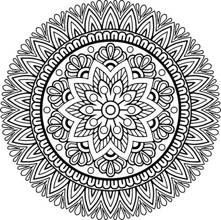 Black and white mandala pattern.
