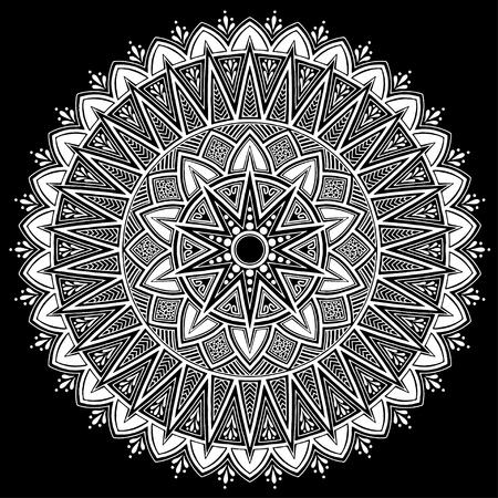 Mandala pattern white good mood Vector illustration.