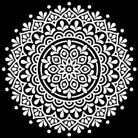 Mandala pattern black and white