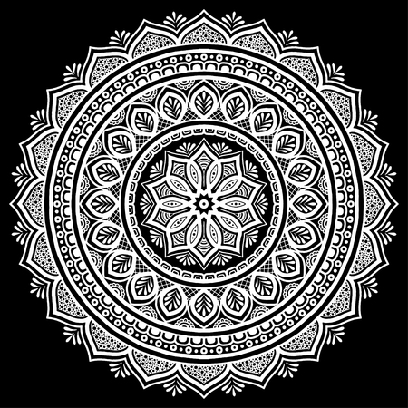 Mandala white good mood pattern