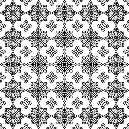Abstract patterns Cross doodles monochrome black and whit