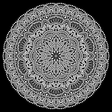 Mandala pattern in black and white