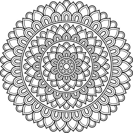 Figure mandala for coloring  イラスト・ベクター素材
