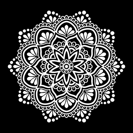 Mandala pattern white 向量圖像