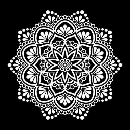 Mandala pattern white Illustration