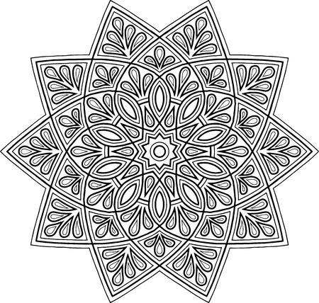 Figure mandala for coloring good mood