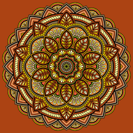Couleur du motif Mandala Vecteurs