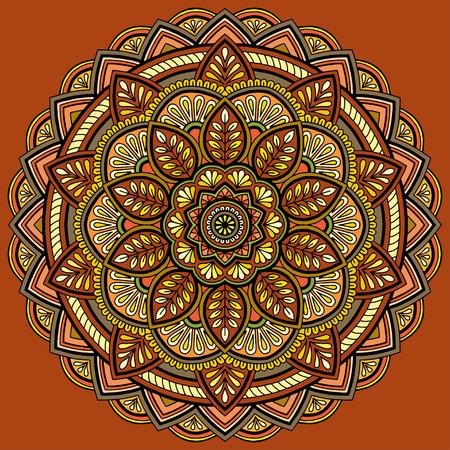 Mandala pattern color Vektorové ilustrace
