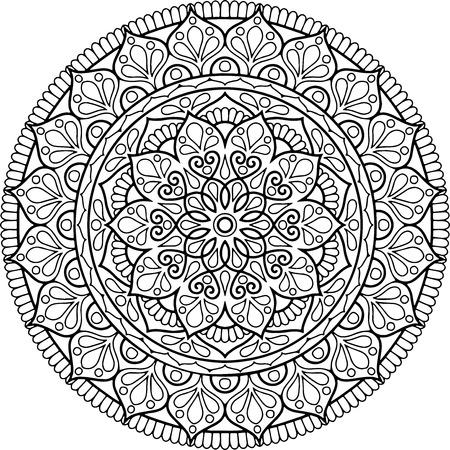 Figure mandala à colorier