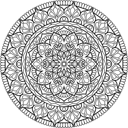 Figure mandala for coloring Иллюстрация
