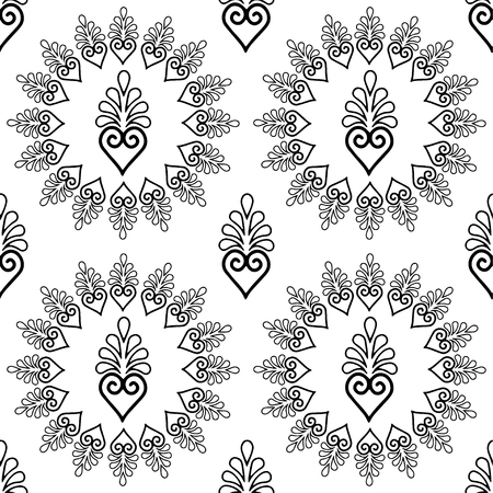 Abstract pattern black and whit doodle Sketch
