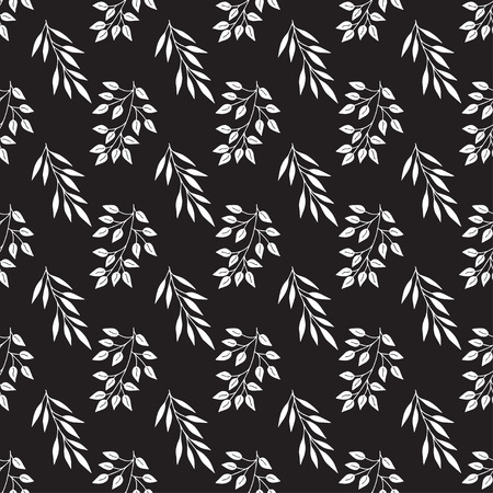 Abstract patterns sprigs black and white doodles sketch