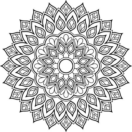 Figure mandala for coloring Illusztráció
