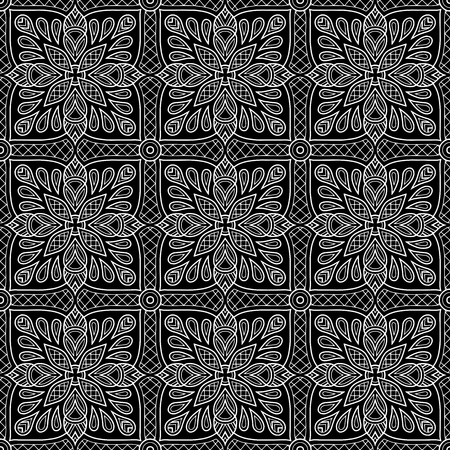 Abstract pattern black and whit doodle Sketch Vektoros illusztráció