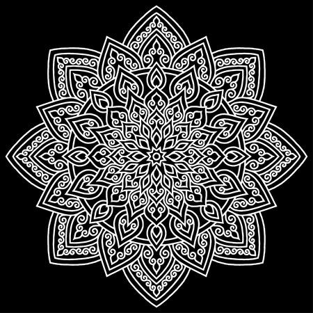 Mandala pattern white doodles sketch