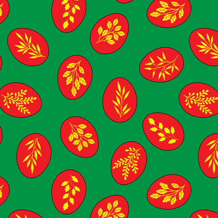 Pattern seamless.Easter eggs color suitable for Wallpaper, flyers, invitation, posters, brochure banners Ilustração
