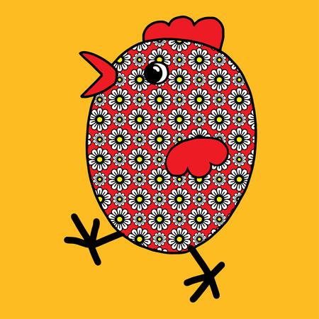 Easter chicken color festive joyful Suitable for greeting cards ornaments Standard-Bild - 124654973