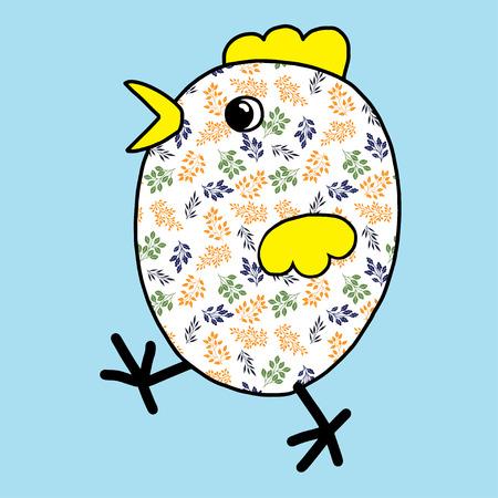 Easter chicken color festive joyful Suitable for greeting cards ornaments Standard-Bild - 124654982