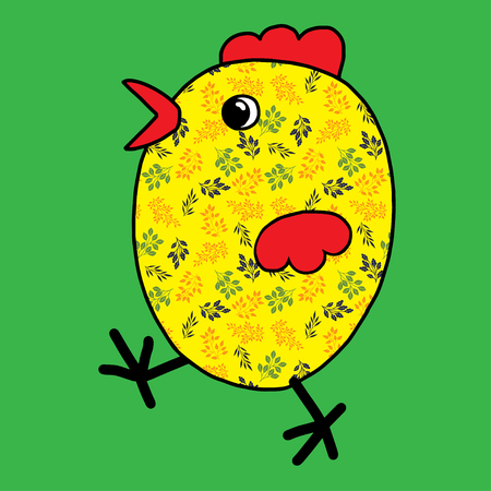 Easter chicken color festive joyful Suitable for greeting cards ornaments
