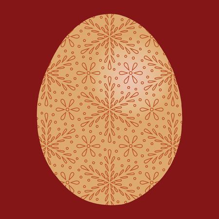 Easter egg joy celebration with cross folk motifs color 矢量图像