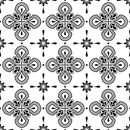 Abstract patterns Cross doodles Sketch 일러스트