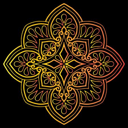 Krzyż doodle szkic kolor religii