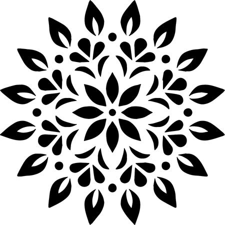 Boceto de garabatos de plantilla de patrón de mandala