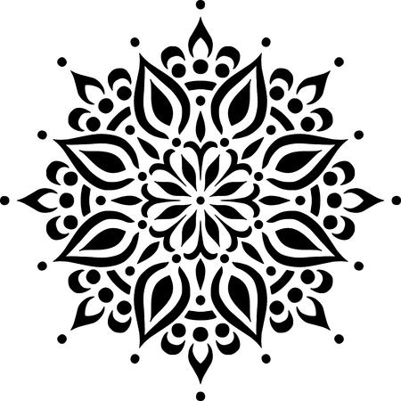 Mandala Pattern Stencil doodles sketch