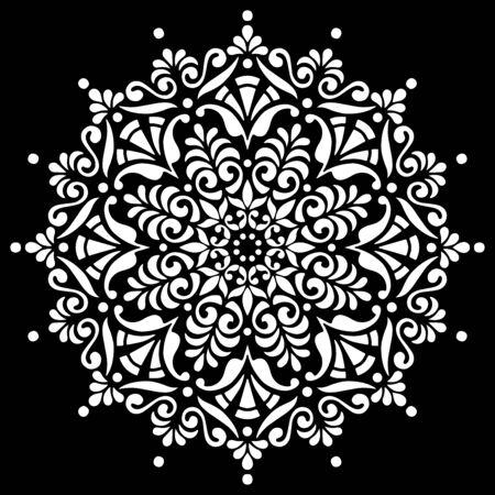 Pattern mandala white stencil doodles sketch good mood
