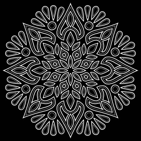 Mandala pattern white doodles sketch good mood