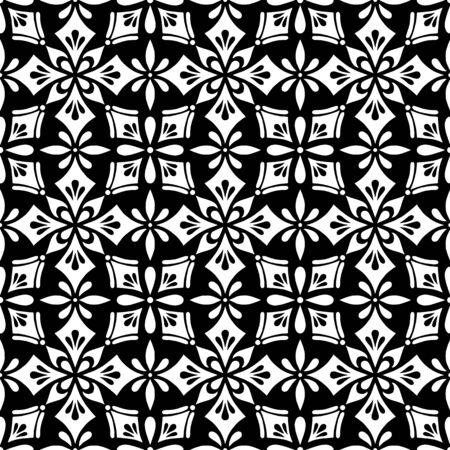 Abstract patterns seamless cross doodles black and whit Sketch