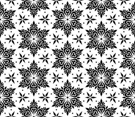 Abstract patterns seamless Stencil doodle sketch black and white good mood Ilustrace