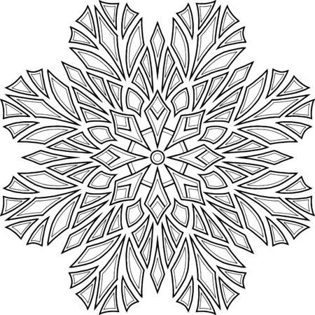 Figure mandala for coloring doodles sketch good mood Ilustrace