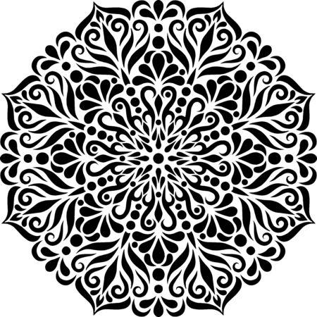 Mandala Pattern Stencil doodles sketch good mood Banque d'images - 138350906