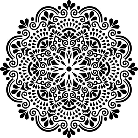 Mandala Pattern Stencil doodles sketch good mood Banque d'images - 138350917